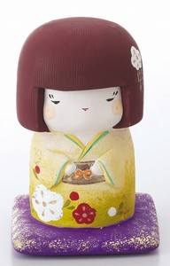 Ornament Kokeshi Piggy Bank