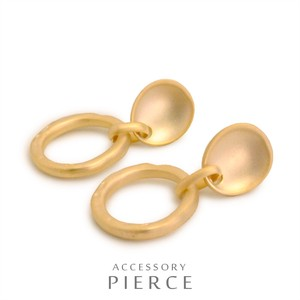 soft Plating Petit Round soft Metal Pierced Earring