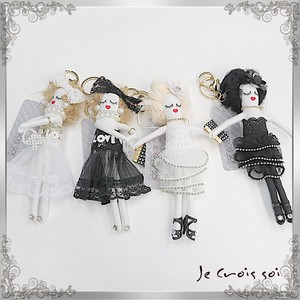 4 Types Charm Mobile Phone Lace Skirt Charm Doll