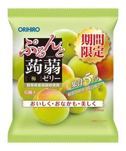 ぷるんと蒟蒻ゼリーパウチ 梅 6個