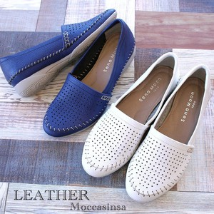Genuine Leather Shoes Punching Flat Low Rebounding Soft