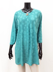 Leisurely Emboss Dot Line Tunic