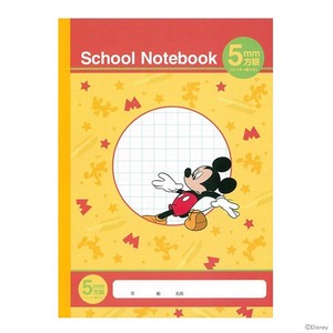 B5 Study Notebook Mickey Mouse Grid Notebook 10 Pcs