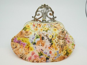 Feeling Coin Purse Bag Base Flower Cat