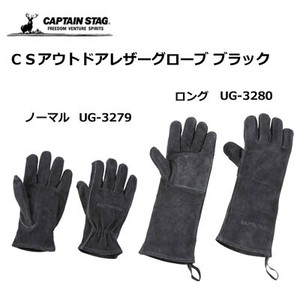 Glove Outdoor Good Leather Glove Black Captain Stag