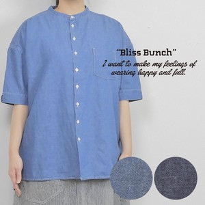 [ 2020NewItem ] Denim Band Color Shirt Tunic Half Length