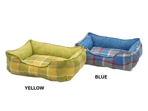 S/S Madras Checkered Tweed Pet Bed for Cat