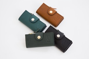 Oil Leather Coin Attached Case Key Case