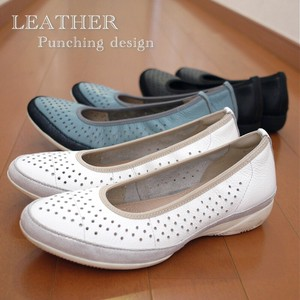 [ 2020NewItem ] Ballet Shoes Ladies Shoe Genuine Leather Punching Flat Low Rebounding Soft