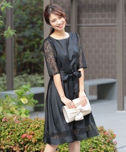 A line Lace Knee-high Party Dress