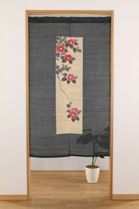 Hand-writing Japanese Noren Curtain Camellia