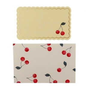 Greeting Card Message Card MIN CARD Envelope 4 Pcs Set Cherry