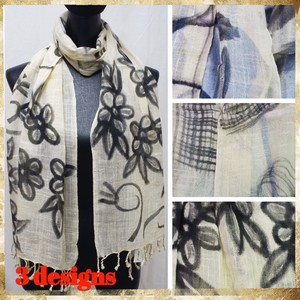 [ 2020NewItem ] Stole Popular Hand-Painted Design Cotton Hand-Painted Stole