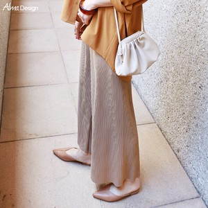 Waist Pleats wide pants