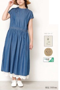 Denim Waist Switch One-piece Dress