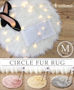 Popular Fake Mouton Floor Rug Natural Circle type Interior Mouton Round