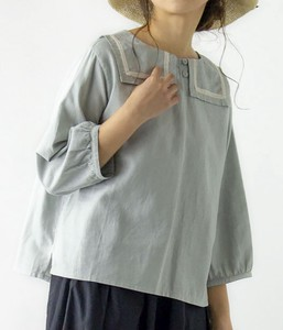 French Linen Three-Quarter Length Sailor Blouse