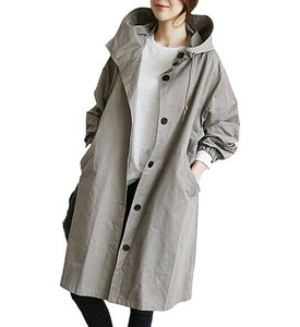 Ladies Casual Long Trench Coat