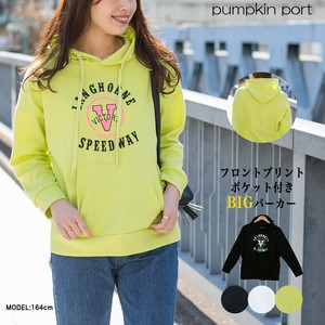 [ 2020NewItem ] Korea Cotton Polyester Front Print Pocket Big Hoody