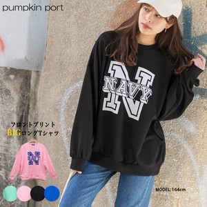 [ 2020NewItem ] Korea Cotton Polyester Front Print Big Long T-shirt