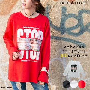 [ 2020NewItem ] Korea Cotton Front Print Print Print Big Long T-shirt