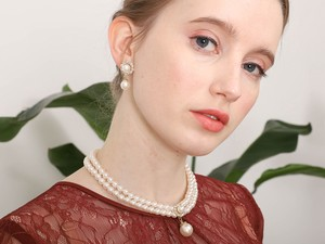 Double Artificial Pearl Necklace