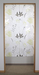 Opal Japanese Noren Curtain Natural Leaf