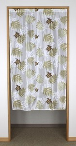 Japanese Noren Curtain Lace Print Leaf