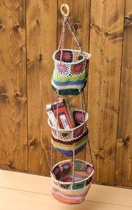 Hand Knitting Cotton Hanging Storage 3 Steps