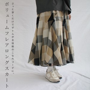 [ 2020NewItem ] Checkered Switching Skirt