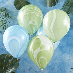Green Blue Marble Balloon