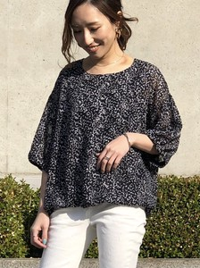 Balloon Dot Jacquard Blouse