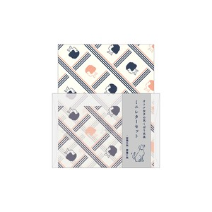 Stationery Mini letter Set Checkered Pattern