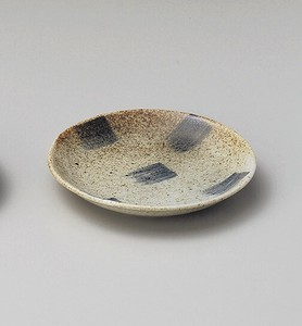 Brush Painting Mejiro 3.5 Plate Porcelain