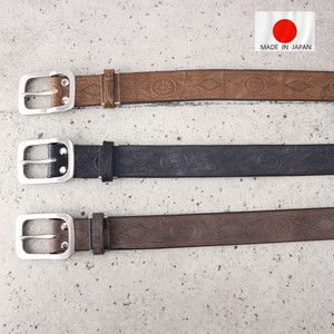 Cow Leather Craft Belt Japan