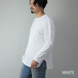 [ 2020NewItem ] Long Sleeve T-shirt Men's Big Silhouette Over Long Waffle Cut And Sewn