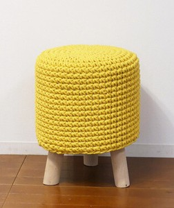 Knitted Stool Yellow