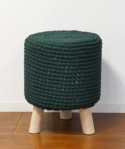 Knitted Stool Green