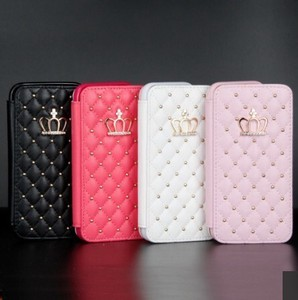 Plus Crown Case Wallet Leather Case Flip Stand Cover Mobile Phone