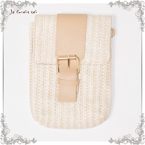[ 2020NewItem ] 5 Colors Natural Material Natural Grass Material Use Compact Bag