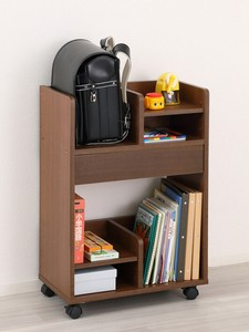 School Bag Storage Wagon Brown