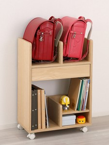 School Bag Storage Wagon Natural