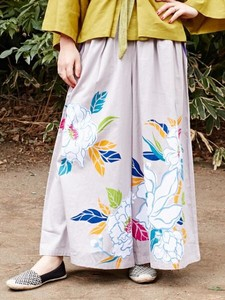 [ 2020NewItem ] Design Color Peony wide pants