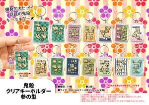 Popular Series Clear Key Ring