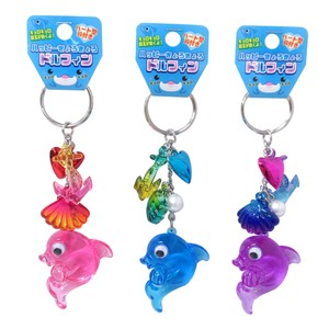 Key Ring Happy Dolphin Key Ring 3 Colors Assort
