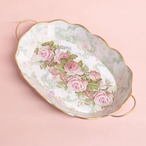 Basket Attached Tinplate Decoration