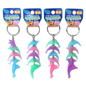 Key Ring Good Luck Marine Dolphin Key Ring Rainbow 4 Colors Assort