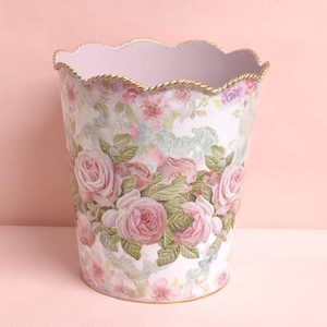 Rose Dust Box Tinplate Decoration