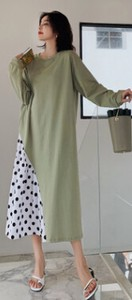 Long Sleeve Leisurely One-piece Dress Women