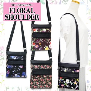 "Petit Pla Floral Pattern Synthetic Leather Shoulder Bag FLORAL ""2020 New Item"" S/S"